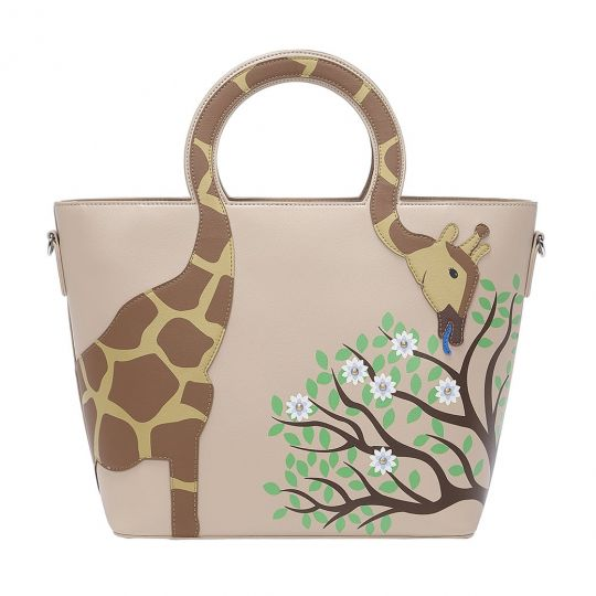 Animal Park Giraffe Cut Out Handle Tote