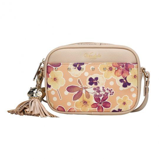 Autumn Floral Studded Camera Bag-Nude