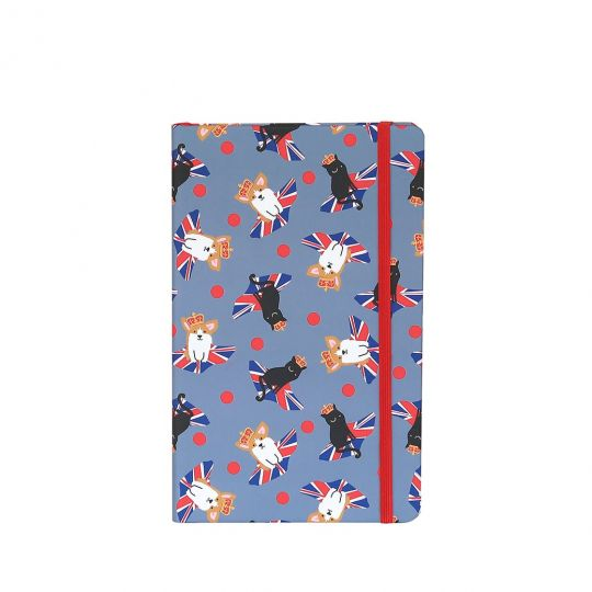 Vendula Cats and Corgis Blue Notebook