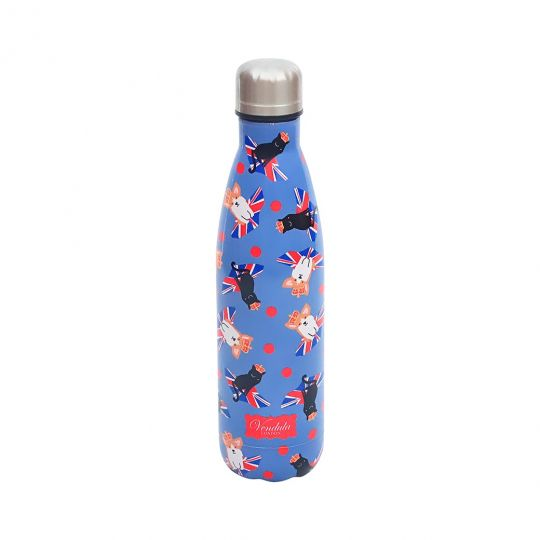 Blaue Vendula Cats and Corgis Trinkflasche