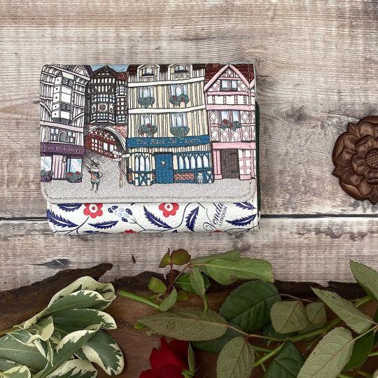 Piccolo Portafoglio Da Donna Trifold Vendula Heritage Tudor Con Clip