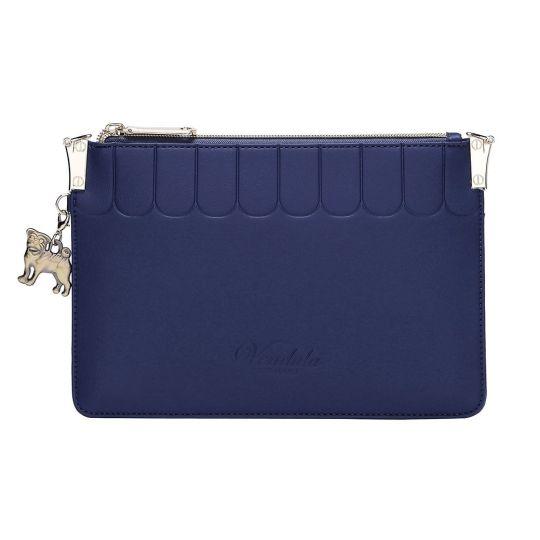 Colour Pop Pouch Clutch-Navy Blue