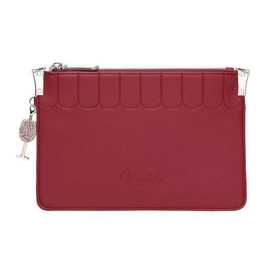Colour Pop Pouch Clutch-Red