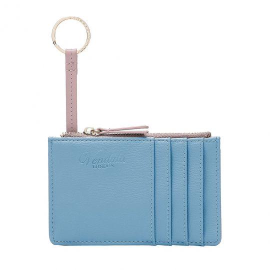 Colour Pop Zipper Card and Coin Purse - Lilac/Blue