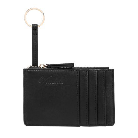 Colour Pop Card and Coin Zipper-Black
