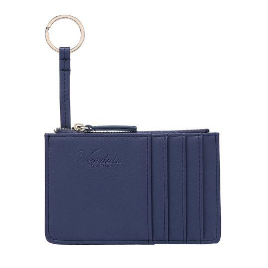 Colour Pop Card and Coin Zipper-Navy Blue