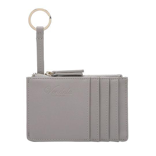 Colour Pop Card and Coin Zipper-Grey