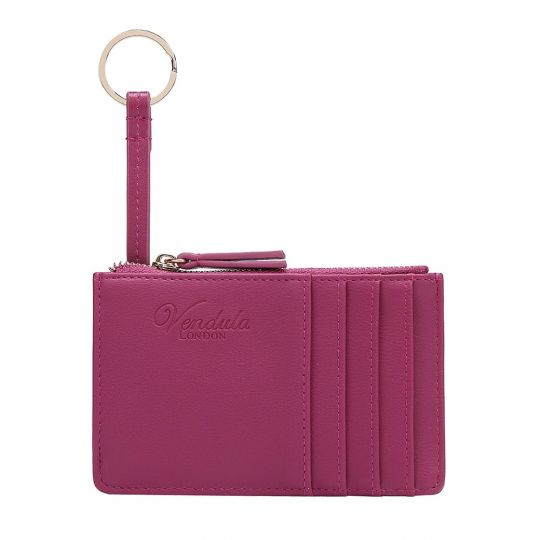 Colour Pop Card and Coin Zipper-Purple