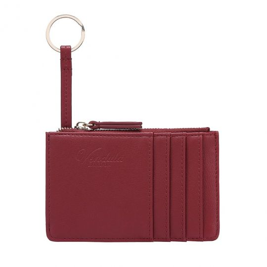 Colour Pop Card and Coin Zipper-Red