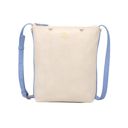 Borsa a Tracolla Crossbody Charm by Vendula - Off White/ Blue