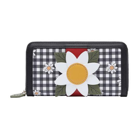 Daisy Garden Large Ziparound Wallet