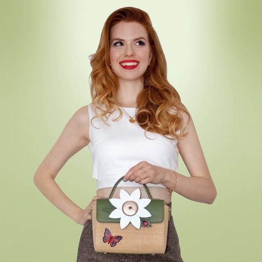 Daisy Garden Top Handle Bag