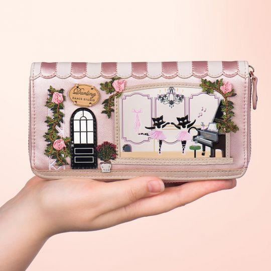 Darling Dance Studio Large Ziparound Wallet