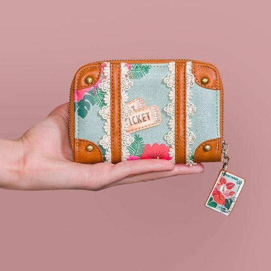 Portemonnaie mit Rundum-Reißverschluss Destination Paradise