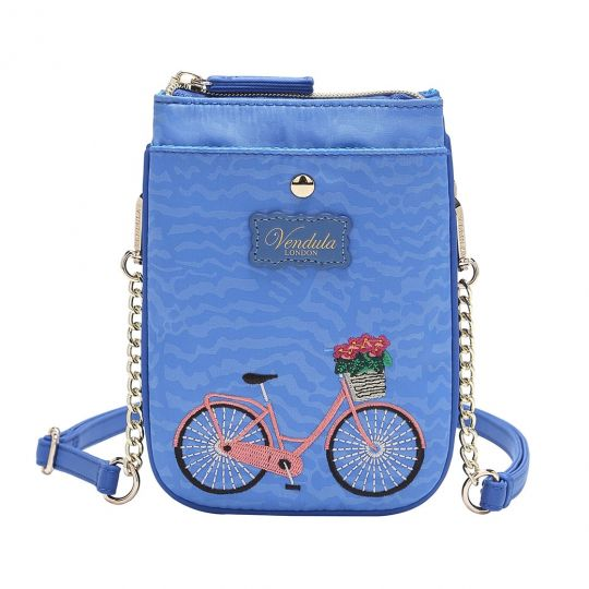 Easy Going Phone Pouch - Blue Bicycle