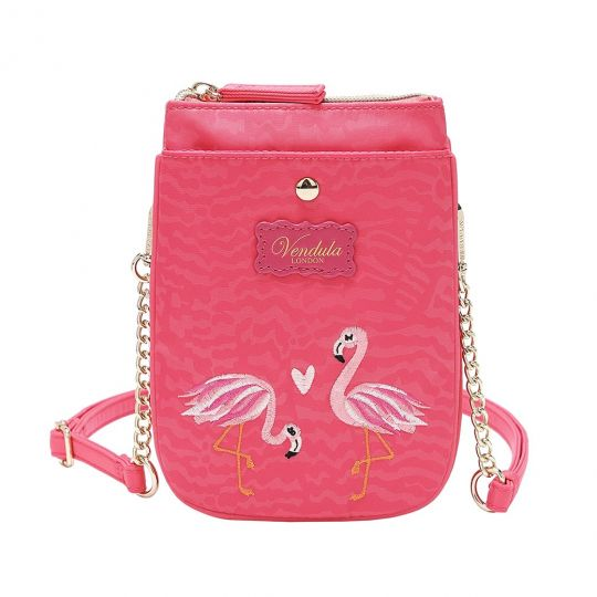 Easy Going Phone Pouch - Coral Flamingo