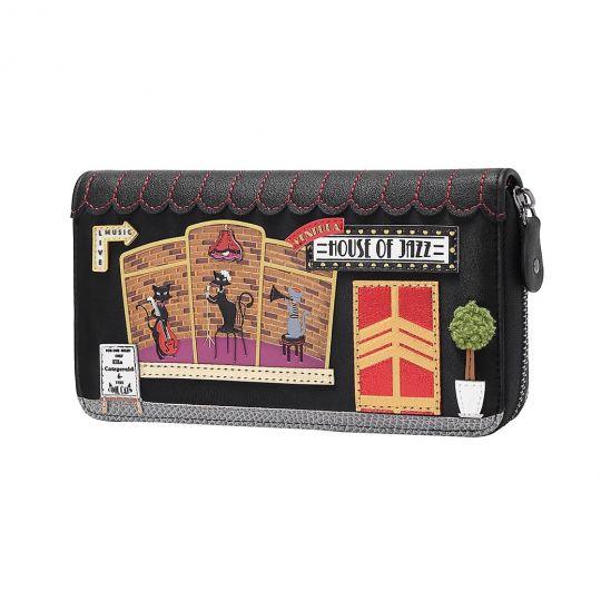 Vendula House of Jazz Large Ziparound Wallet