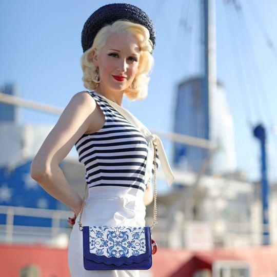Hello Sailor Crossbody Clutch Bag