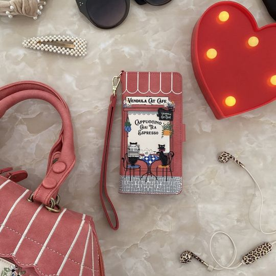 Vendula Cat Cafe - Universal Flip Phone Case