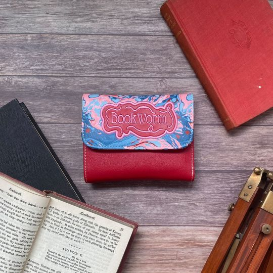 Piccolo Portafoglio Da Donna Trifold Bookworm