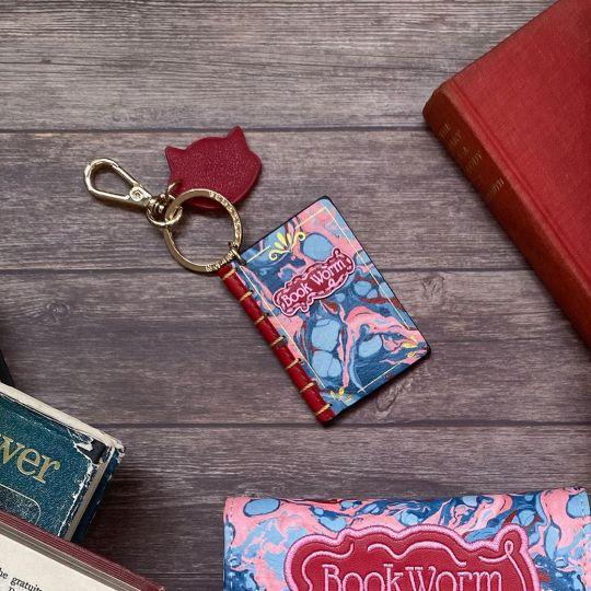 Bookworm Mini Book Key Charm