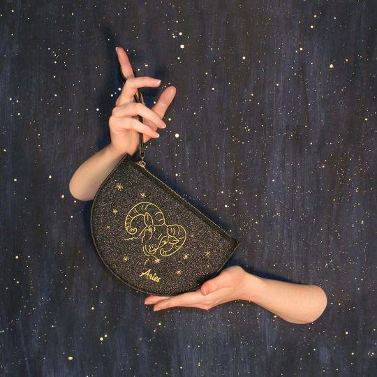 Zodiac Half Moon Pouch