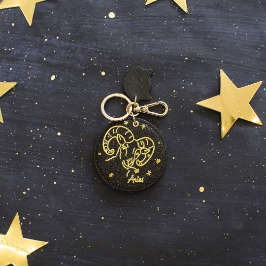 Zodiac Key Charm Mirror