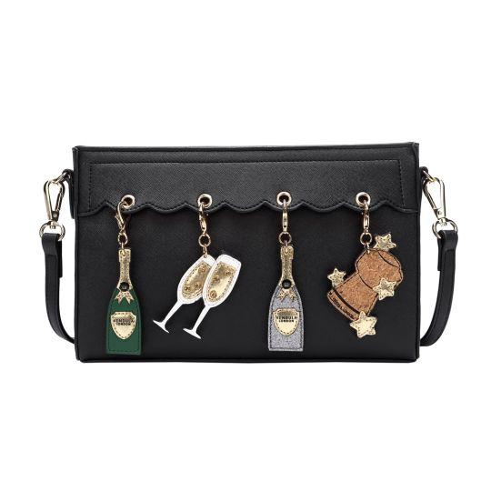 Charm Crossbody Bag – Black