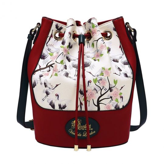 Gardens of the World Japan Crane Bucket Bag