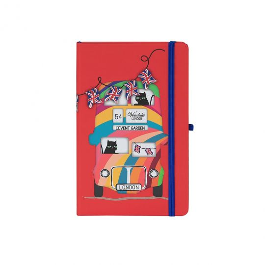 Vendula London Bus Red Notebook