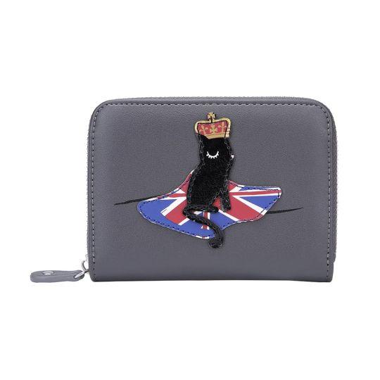 London Cats Small Ziparound Wallet – Grey