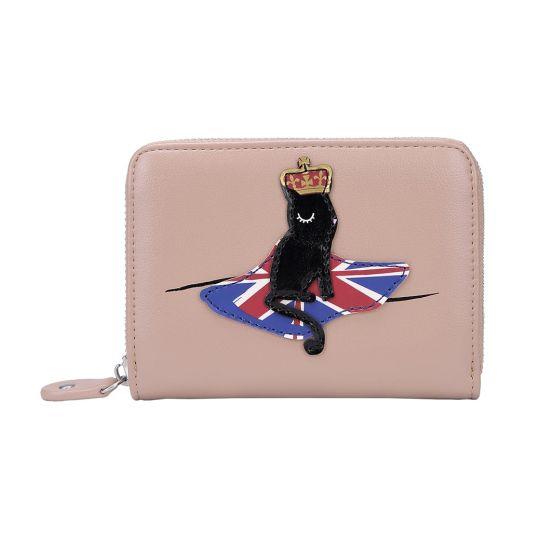 London Cats Small Ziparound Wallet – Beige