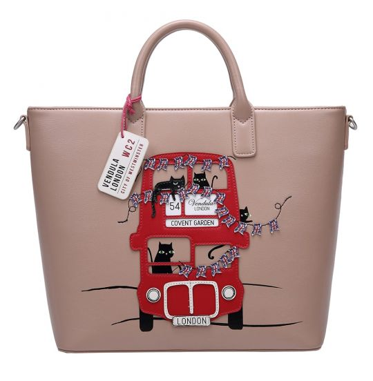 London Cats Tote Bag - Beige