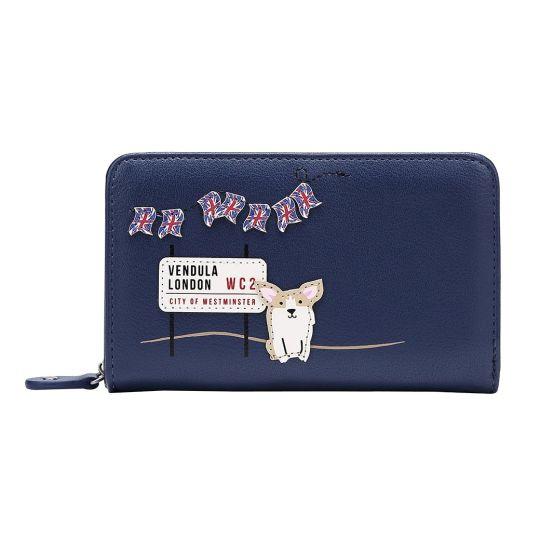 London Corgis Medium Ziparound Wallet