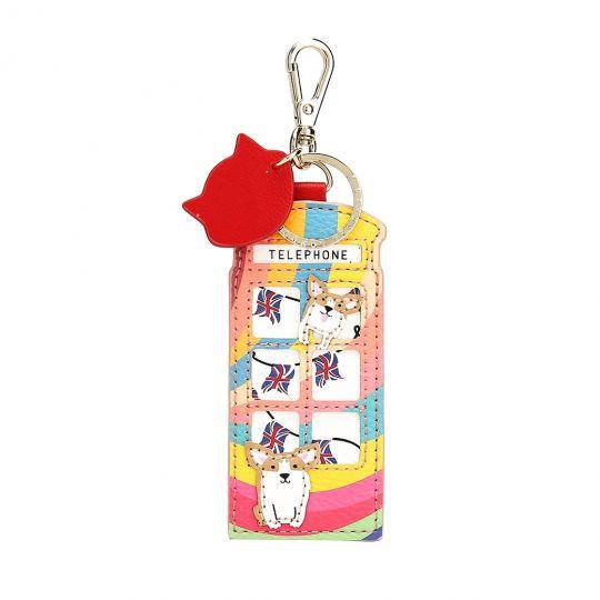 London Rainbow Telephone Box Key Charm