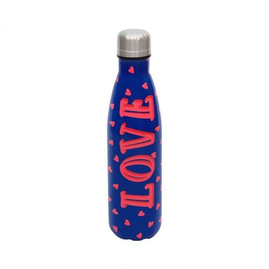 Vendula Love Dark Blue Insulated Water Bottle 500ml