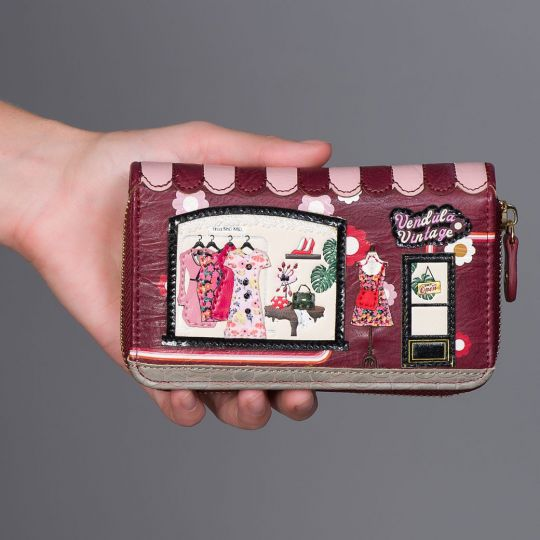 Portemonnaie mit Rundum-Reißverschluss Vendula Vintage
