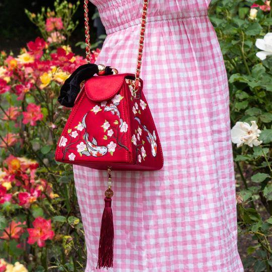 Gardens of the World Japan Koi Satin Evening Bag
