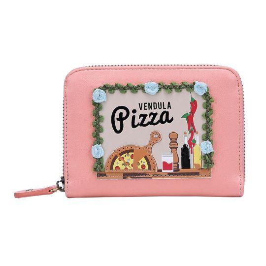 Piccolo Portafoglio Da Donna Con Zip Pizza Truck
