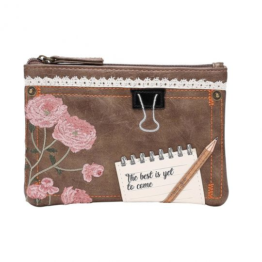 Vintage Stationery Zip Coin Purse