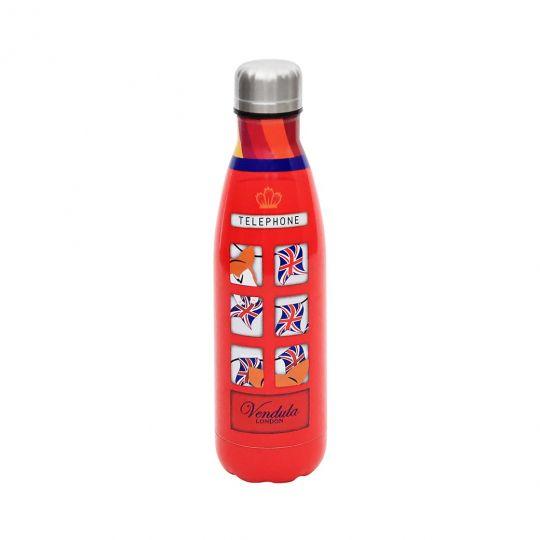 Rote Vendula Telephone Box Trinkflasche