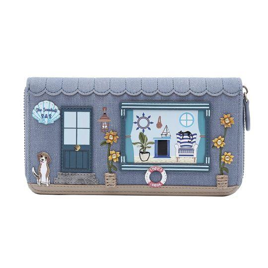 The Seashell B&B Large Ziparound Wallet