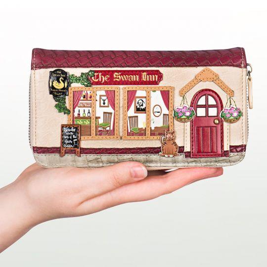 The Swan Inn Pub Large Ziparound Wallet