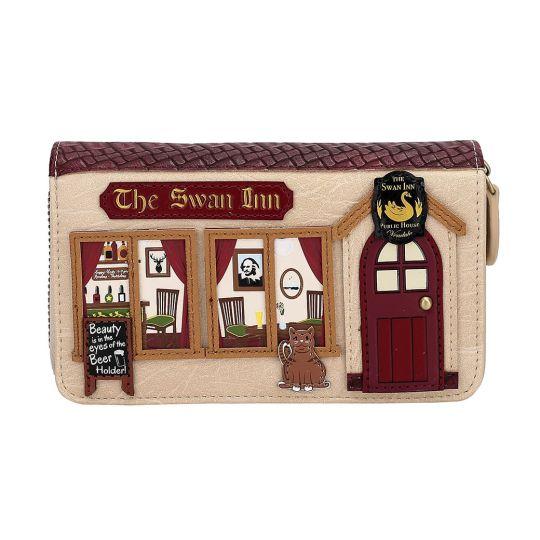The Swan Inn Pub Medium Ziparound Wallet