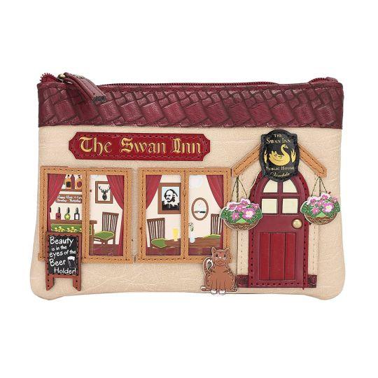The Swan Inn Pub Zipper Coin Purse