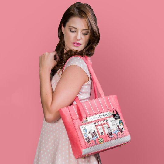 Vendula Cat Café Shopper Bag