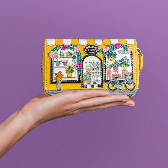 Vendula Flower Shop Medium Ziparound Wallet