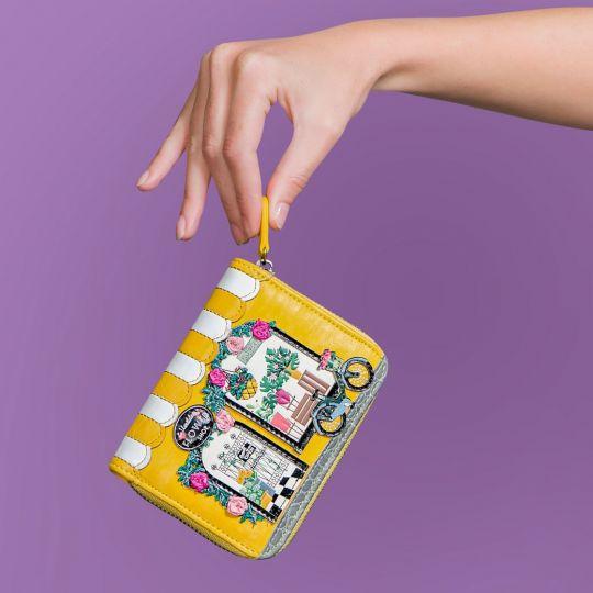 Kleine Portemonnaie mit Rundum Reißverschluss Vendula Flower Shop