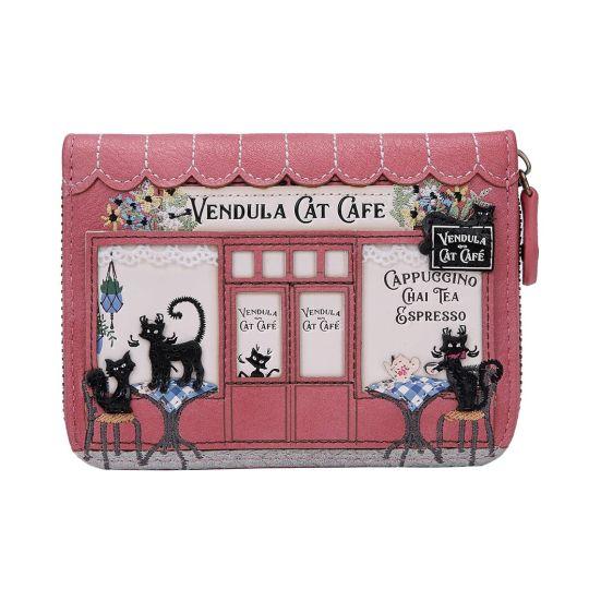 Vendula Cat Café Small Ziparound Wallet