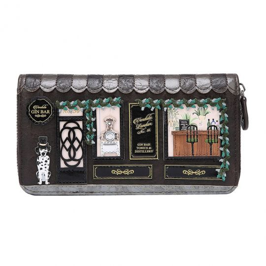 Gin Bar Large Ziparound Wallet